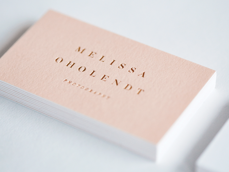 rose gold business cards by dustin hackwith on dribbble