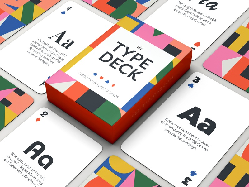 Typography Playing Cards pattern type art typeface type design typedesign illustration playing cards typography type