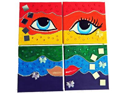 Gouache Painting rainbow lgbt gouache canvas art painting