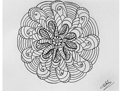 Mandala vol2 draw ink blackwhite art mandala