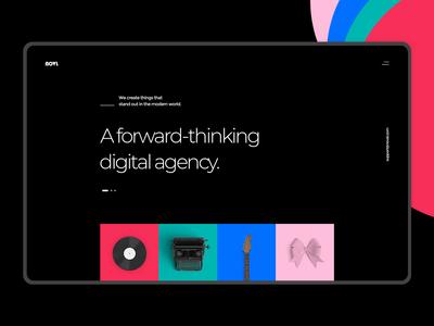 Novl - Creative Agency Dark Home Concept