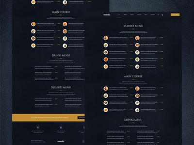 Ravada - Theme Menu List Layout Page