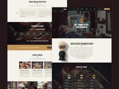 Gentlecut - Barbershop and Hair Salon Template