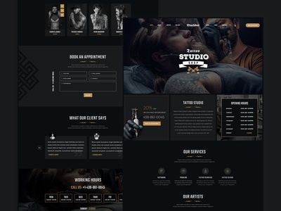 TStudio -  Tattoo Studio Template