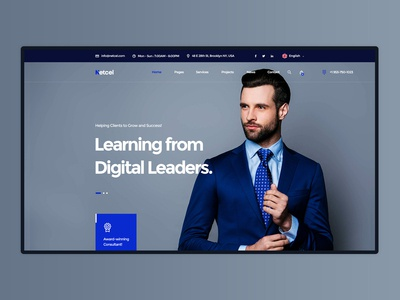 Netcel - Business Consulting Website Theme Homepage 2nd Concept