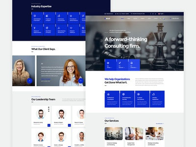 Netcel - Business Consulting and Finance Theme Homepage v1
