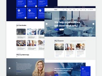 Netcel - Business Consulting and Finance Theme Homepage v3