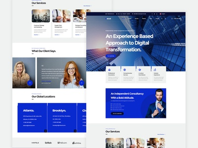 Netcel - Business Consulting and Finance Theme Homepage v5
