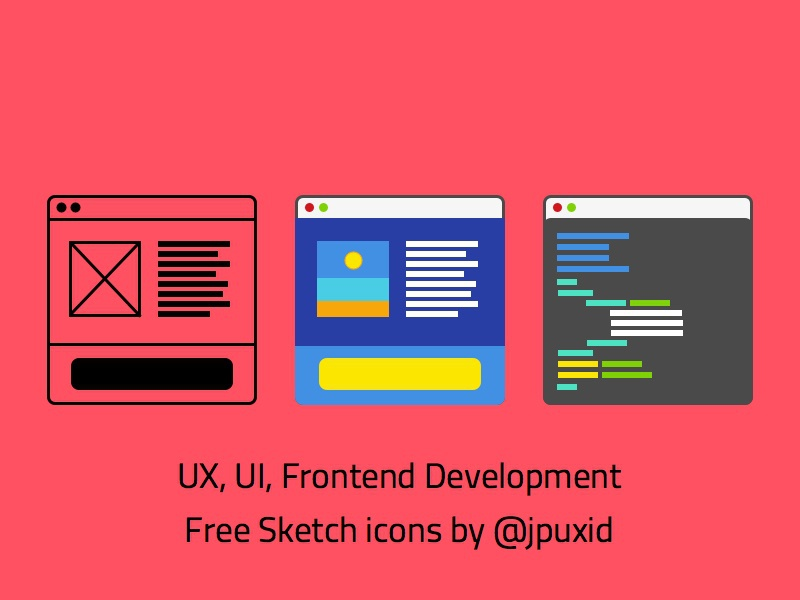 Free UX, UI & Front end dev icons! sketch icons front end development ux ui freebies free icons