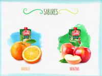 Juice flavors selector