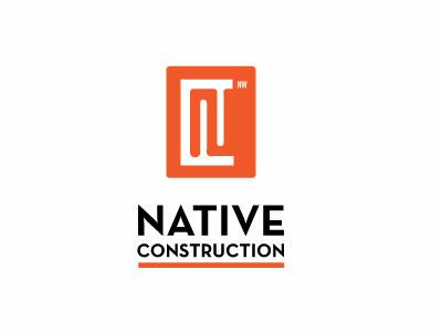 NW Native Construction Orange Enclosure Logo
