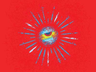 The Eye of Ra texture sungod god eye blue red future cyberpunk logo design egyptian horus ra re abstract illustration graphic design logo vector