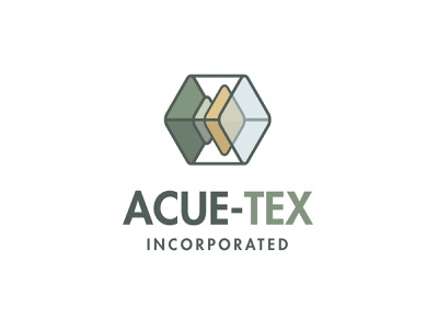 ACUE-TEX Incorporated Logo green plastic transparent cube logo wireframe line logo hexagon logo logo design graphic design plastic injection molding shape icon abstract medical supplies industrial logo vector logo acue-tex inc brand logo