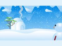 Winter - Fantasy vector illustration