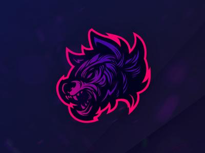 Woolfy vector beast wolfman esport logo