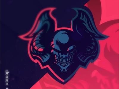 Demon demon skull evil mascotlogo premadelogo logo