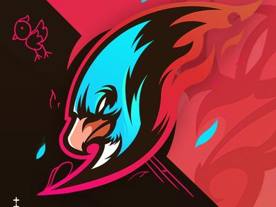 Thndrbrd branding gaminglogo esportlogo mascotlogo esport artwork illustration design vector logo