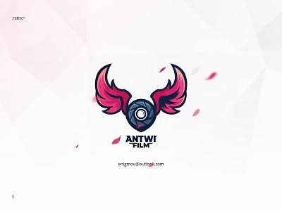 Antwi Film antwifilm crimson wing movie film camera branding logo design