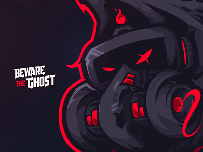 Beware The Ghost! fortnite fps mascotlogo gaminglogo logo