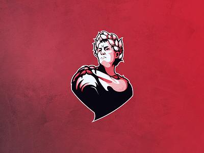 Roman esportlogo gaminglogo fortnite esport artwork illustration design vector logo