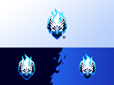 Azure Wolf logodesign design vector branding minimalism wolf logo