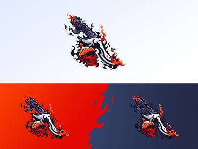 A Skull Dagger dagger skull logodesign branding vector design logo
