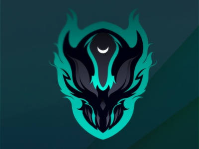 Crescent mascotlogo branding gaminglogo esportlogo esport artwork vector illustration design logo