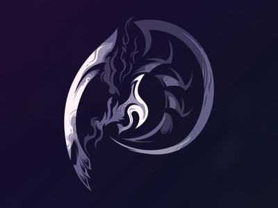 Death vector illustration design logo
