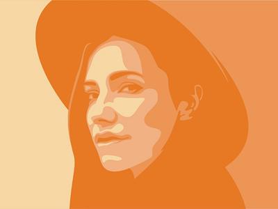 Sunhat Illustration logo design orange illusrator sunhat sun summer monotone simple minimalism minimal illustration