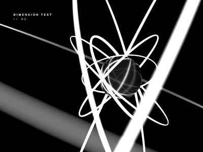 Dimension Test 02 adobe dimension monotone black and white model 3d art 3d abstract graphic design minimal