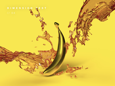 Gold Banana 3d modeling 3d artist 3d banana graphic design design minimal