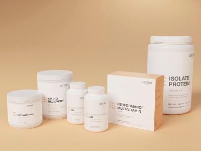 Life Time performance supplements minimalism health package design packaging package vitamins supplements branding simple graphic design logo minimalist design minimal