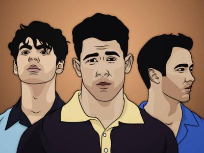 Jonas Brothers Illustration