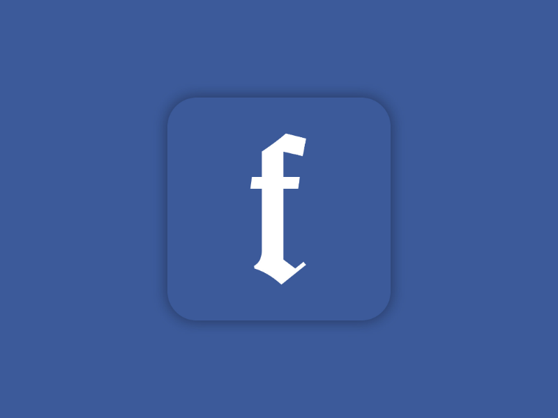 Gothic Facebook simple minimalist minimalism minimal mark logos logo designer design social media