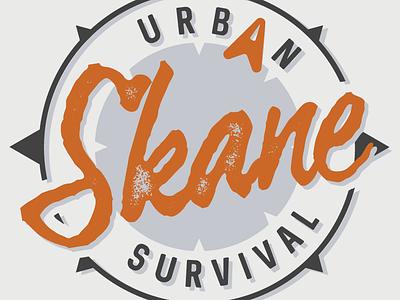 Skane Urban Survival Logo logo design