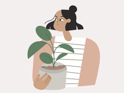 Get your greenfriends plants character illustrations product procreate flat editorial illustration art illustration design