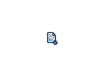 Little icon for a 'Health Check' report thick iconography icon design icon