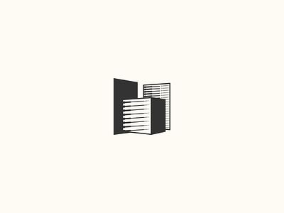 Perspective faces city marking identity marketing vector illustration linework icon logo