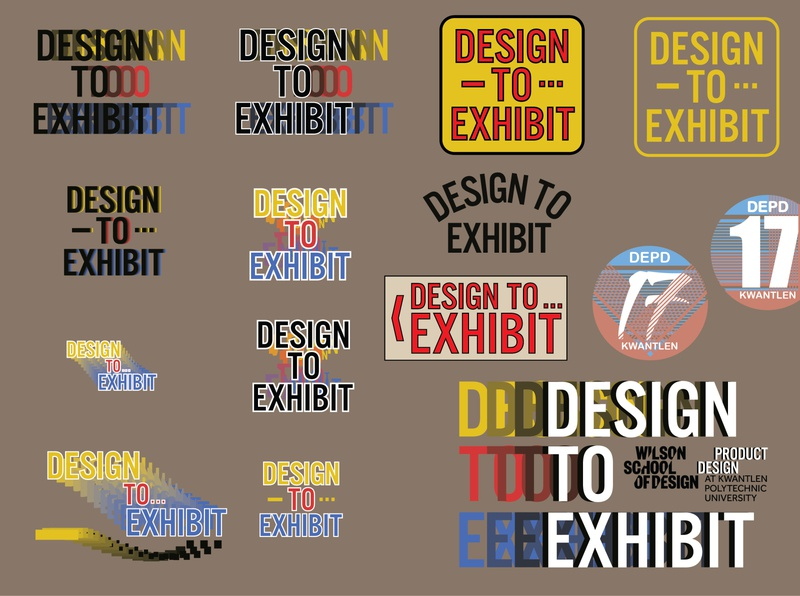 Graduation exhibit identity exploration exhibition logo branding and identity branding brand design logos