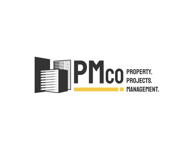 Branding for PMco construction logo property management property marketing project management construction branding design identity branding