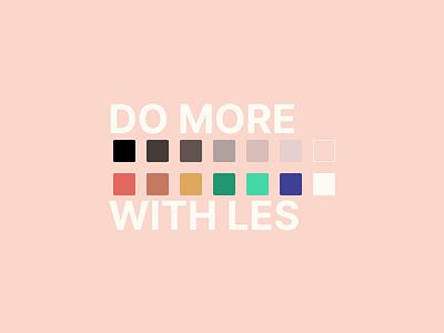 Les Original color palette tone tones lesoriginal simple light colors branding and identity color palette