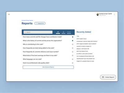 Analytics webapp Reports section ui uxui ux analytics app reports and data light analytics reports reporting product design material design