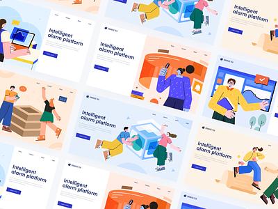 Web Illustration Collection web design colors 设计 插图 boy girl design illustration