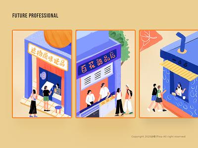 Illustration exercises in May 2020 05 design girl illustration