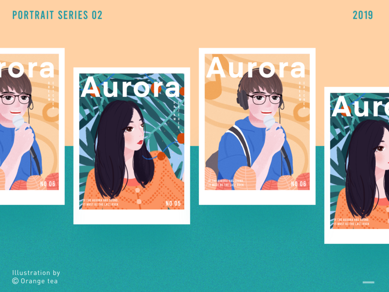 Portrait series 05&06 illustration layout illustration layout typesetting green couple magazine style 插图 girl illustration