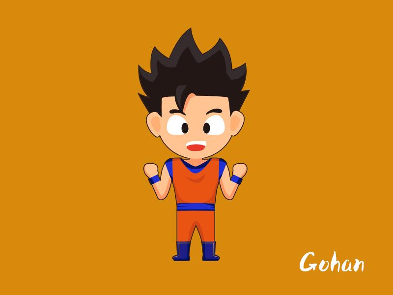 Dragonball Z - Gohan gohan cartoon dragonballz illustrator