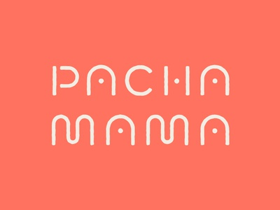 Pachamama lettering logo