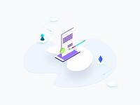 Free Illustration - Blockchain Platform Smart Contract Isometric