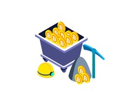 Free Illustration - Bitcoin Mining Isometric