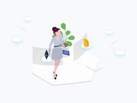Free Illustration - Exchange Cryptocurrency Blockchain Isometric